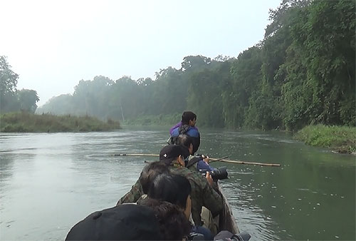 Canoe ride in Chitwan