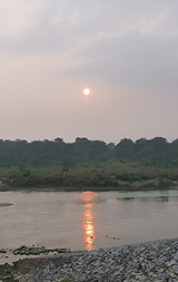 Sunset in Chitwan