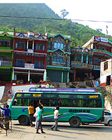 Bus along Prithvi Highway Nepal