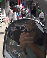 camcorder in mirror